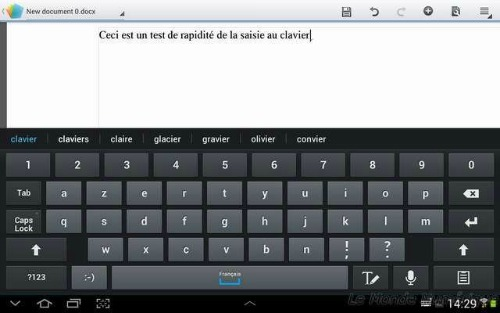 de la tablette galaxy note 10 1 ma trisez le clavier virtuel