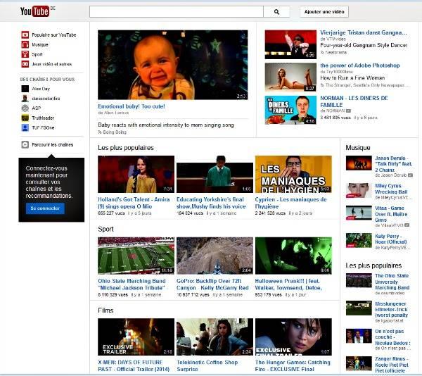 Connectez-vous au site Youtube