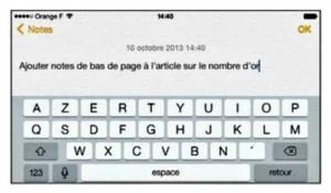 La fonction Siri à converti vos paroles en texte
