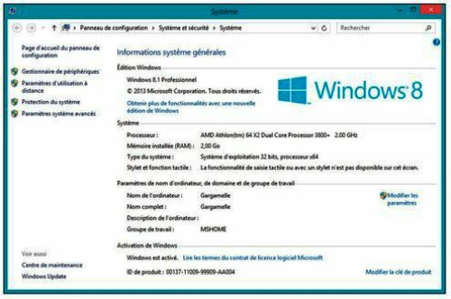 Tutoriel windows 8 1 ordinateur et r seau for Fenetre windows 8
