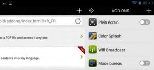 Ajouter un add-on à Dolphin browser