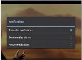 Empêcher l'affichage des notifications