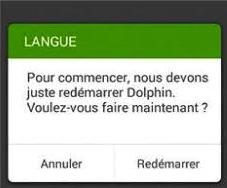 Régler Dolphin Browser en anglais