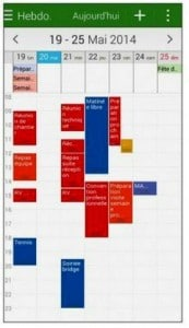 S Planner en mode semaines