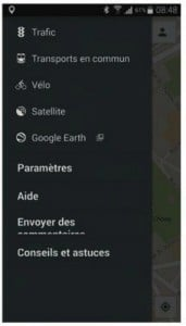 Les options de Google Maps