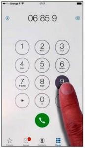 Une manière très classique de composer un numéro de téléphone