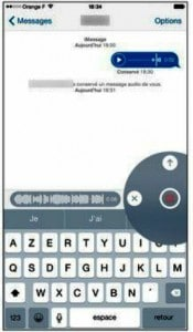 L'enregistrement d'un son pour un iMessage audio