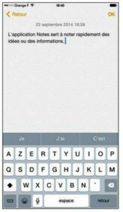 L'application Notes