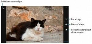 Les options d'amélioration d'une photo