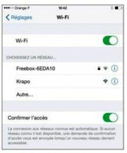 Les réglages du Wi-Fi