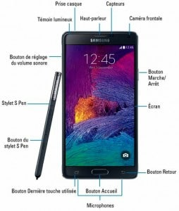 Le Galaxy Note 4, ses boutons, son stylet