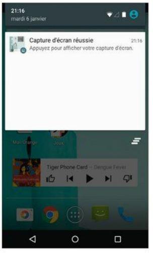 Les notifications apparaissent sous la forme d'une liste plus ou moins détaillée.