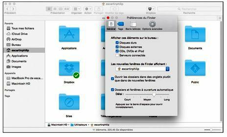 Configurez Yosemite pour que les fenêtres de Finder s'ouvrent sur votre dossier principal