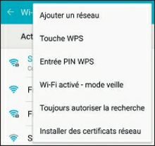 options relatives au Wi-Fi