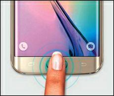 Le lecteur d'empreintes su Samsung Galaxy S6