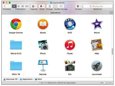 Aperçu des icônes d' applications