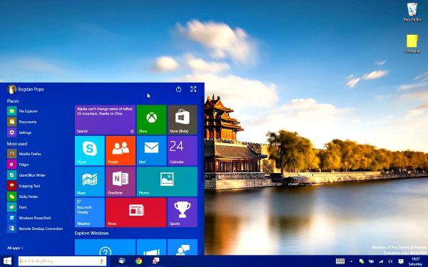 Windows 10 le menu démarrer