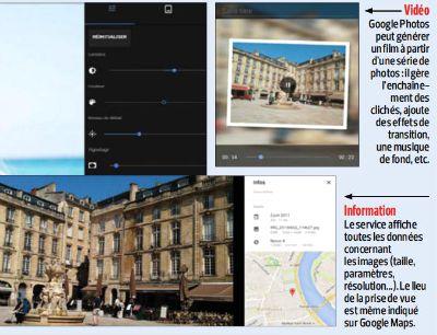 Vidéos et information - Google Photos