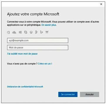 Vous avez besoin d'un compte Microsoft pour accéder à de nombreuses fonctionnalités de Windows