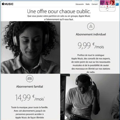 Vous devez vous abonner pour utiliser Apple music