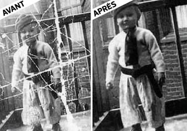 Correction automatique des photos endommagées