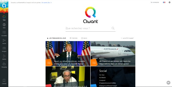 Interface Qwant