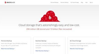 Le service de cloud Blackblaze