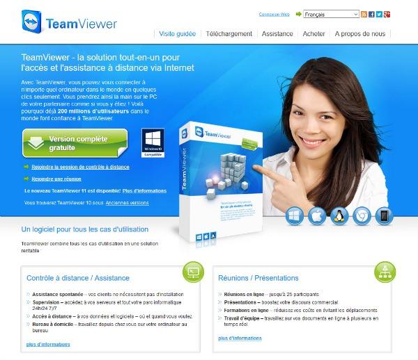 Installer teamviewer sur PC