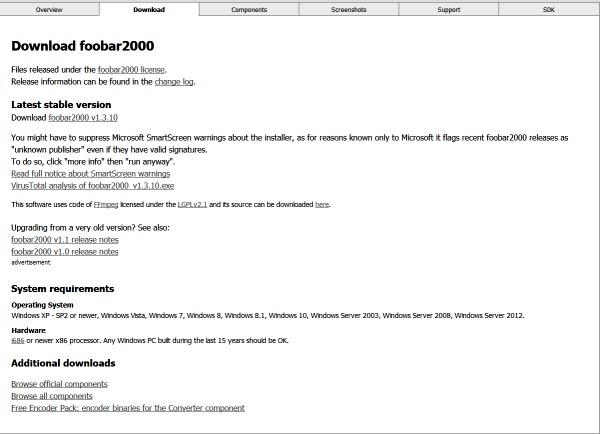 Installer Foobar2000