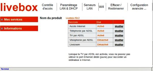 Interface-Livebox
