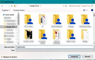 Placez vos fichiers dans le dossier virtuel du service cloud