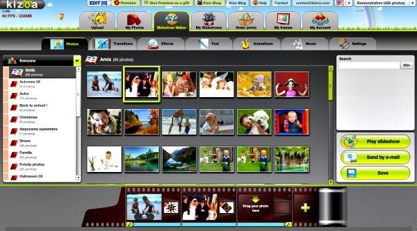 logiciel de retouche d'images Kizoa
