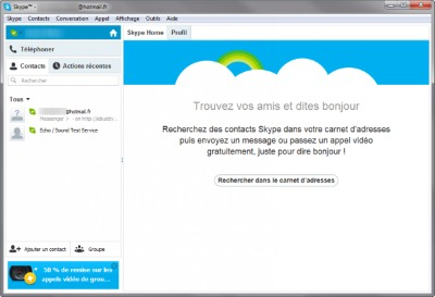 interface skype