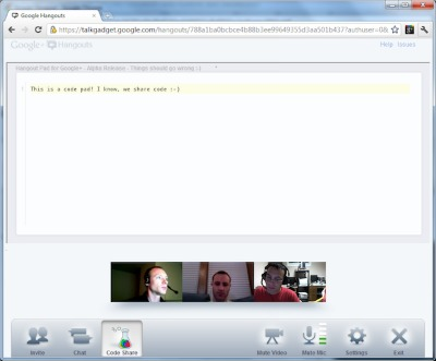 interface Hangouts