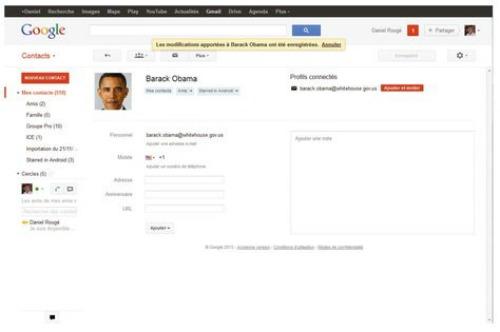 Créer un contact dans Gmail
