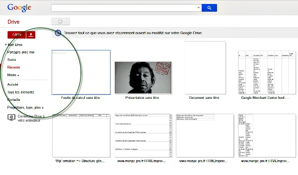 Activer les filtres Google Drive