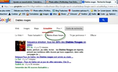 Google search-Une