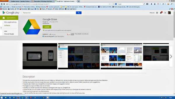 Installer Google drive pour les mobiles