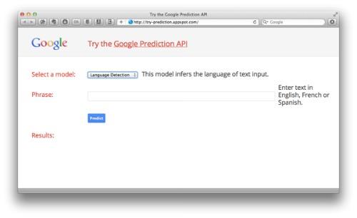 outil de prédiction Google