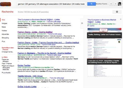recherche Google avec or