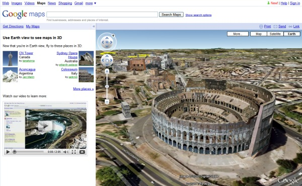 vue d'un monument Google maps