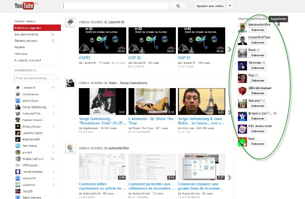 Personnalisez votre espace Youtube