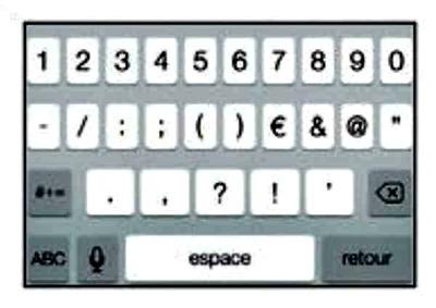 le clavier numérique
