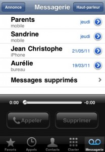 messagerie vocale iphone 5