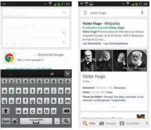 Effectuer une recherche à l'aide du widget Google