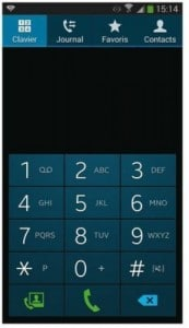 le clavier du telephone galaxy note 3
