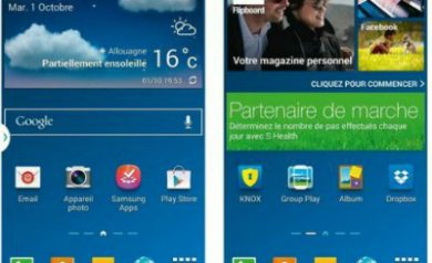 ecran accueil du Galaxy Note 3