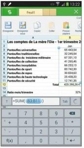 Éditer des formules Excel dans Kingsoft Office