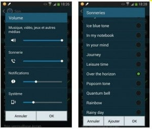 Configurer les options sonores du Galaxy Note 3