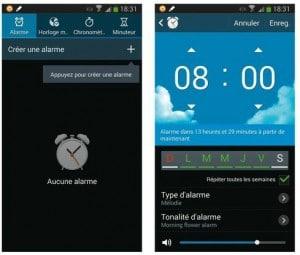 Créer une alarme
